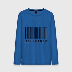 Лонгслив хлопковый мужской Александр (штрихкод) цвета синий — фото 1