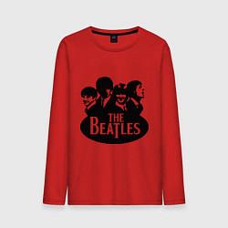 Лонгслив хлопковый мужской The Beatles Band цвета красный — фото 1