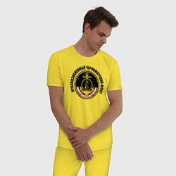 Пижама хлопковая мужская Краснознам черноморский флот цвета желтый — фото 2