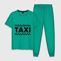 Пижама хлопковая мужская Taxi цвета зеленый — фото 1