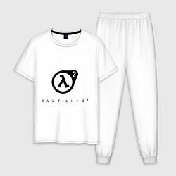 Пижама хлопковая мужская Half Life 2 цвета белый — фото 1