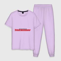 Пижама хлопковая мужская NFS Undeground цвета лаванда — фото 1