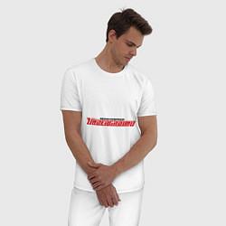 Пижама хлопковая мужская NFS Undeground цвета белый — фото 2