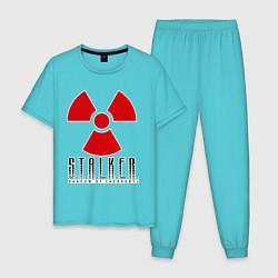 Пижама хлопковая мужская STALKER: Shadow of Chernobyl цвета бирюзовый — фото 1