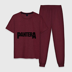 Пижама хлопковая мужская Pantera цвета меланж-бордовый — фото 1