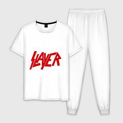 Пижама хлопковая мужская Slayer цвета белый — фото 1