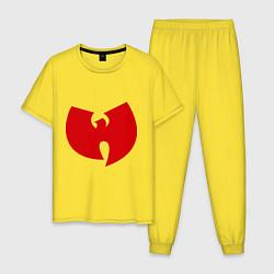 Пижама хлопковая мужская Wu-tang clan цвета желтый — фото 1