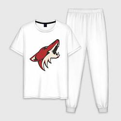 Пижама хлопковая мужская Phoenix Coyotes цвета белый — фото 1