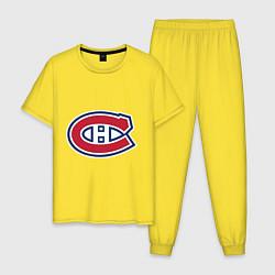 Пижама хлопковая мужская Montreal Canadiens цвета желтый — фото 1