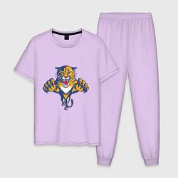 Пижама хлопковая мужская Florida Panthers цвета лаванда — фото 1
