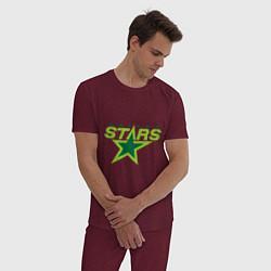 Пижама хлопковая мужская Dallas Stars цвета меланж-бордовый — фото 2