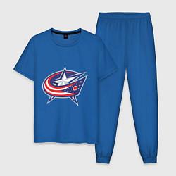 Пижама хлопковая мужская Columbus Blue Jackets цвета синий — фото 1