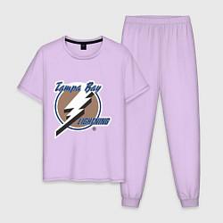 Пижама хлопковая мужская Tampa Bay цвета лаванда — фото 1