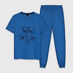 Пижама хлопковая мужская Pink Floyd цвета синий — фото 1