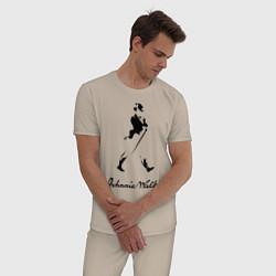 Пижама хлопковая мужская Johnnie Walker цвета миндальный — фото 2