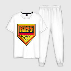 Пижама хлопковая мужская Kiss Army цвета белый — фото 1
