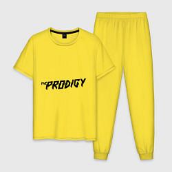Пижама хлопковая мужская The Prodigy логотип цвета желтый — фото 1