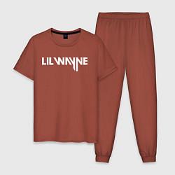 Пижама хлопковая мужская Lil Wayne цвета кирпичный — фото 1
