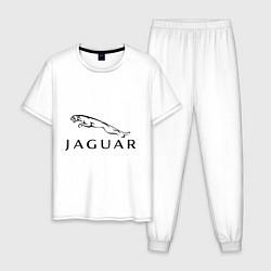 Пижама хлопковая мужская Jaguar цвета белый — фото 1