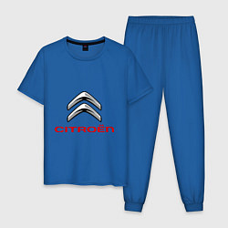 Пижама хлопковая мужская Citroen цвета синий — фото 1