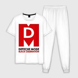 Пижама хлопковая мужская Depeche Mode: Black Celebration цвета белый — фото 1