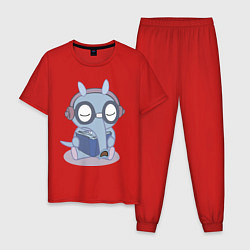 Пижама хлопковая мужская HTF: Sniffles цвета красный — фото 1