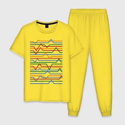 Пижама хлопковая мужская Эквалайзер цвета желтый — фото 1