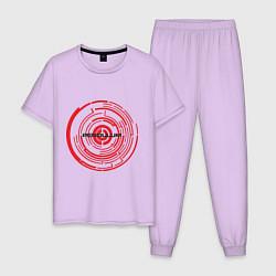 Пижама хлопковая мужская Pendulum цвета лаванда — фото 1