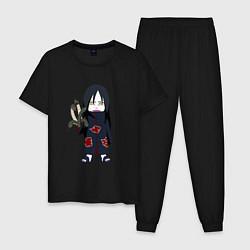 Пижама хлопковая мужская Орочимару цвета черный — фото 1