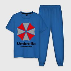 Пижама хлопковая мужская Umbrella corporation цвета синий — фото 1