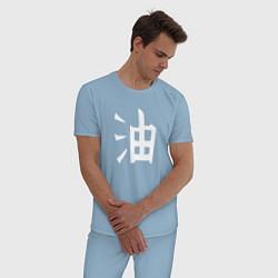 Пижама хлопковая мужская Symbol Naruto цвета мягкое небо — фото 2