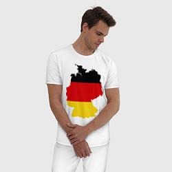 Пижама хлопковая мужская Германия (Germany) цвета белый — фото 2