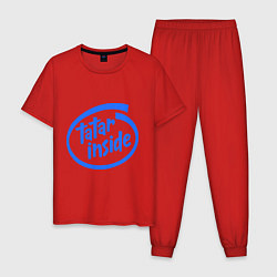 Пижама хлопковая мужская Tatar inside цвета красный — фото 1