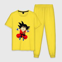 Пижама хлопковая мужская Dragon Ball цвета желтый — фото 1