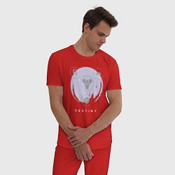 Пижама хлопковая мужская Destiny Planet цвета красный — фото 2