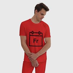 Пижама хлопковая мужская Фублока Fr цвета красный — фото 2