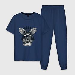 Пижама хлопковая мужская Twin Peaks Pack цвета тёмно-синий — фото 1