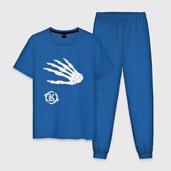 Пижама хлопковая мужская Кукрыниксы: Кости цвета синий — фото 1