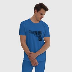 Пижама хлопковая мужская Pulp Fiction Gun цвета синий — фото 2