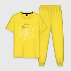 Пижама хлопковая мужская Linkin Park: Brotherhood цвета желтый — фото 1