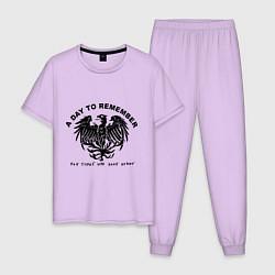 Пижама хлопковая мужская A day to remember цвета лаванда — фото 1