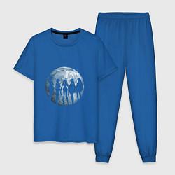 Пижама хлопковая мужская Войны в матросках цвета синий — фото 1