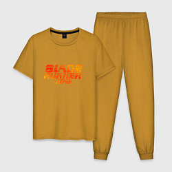 Пижама хлопковая мужская Blade Runner 2049 цвета горчичный — фото 1