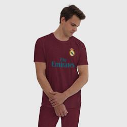 Пижама хлопковая мужская Real Madrid: Ronaldo 07 цвета меланж-бордовый — фото 2