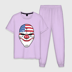 Пижама хлопковая мужская American Mask цвета лаванда — фото 1