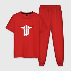 Пижама хлопковая мужская Wolfenstein цвета красный — фото 1