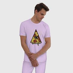 Пижама хлопковая мужская Божественная пицца цвета лаванда — фото 2