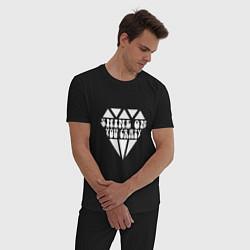 Пижама хлопковая мужская Shine on you crazy цвета черный — фото 2
