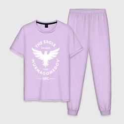 Пижама хлопковая мужская The Eagle: Khabib UFC цвета лаванда — фото 1