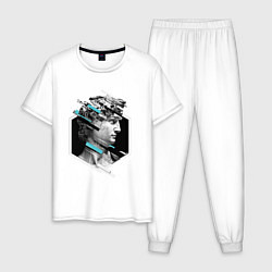 Пижама хлопковая мужская Renaissance David цвета белый — фото 1